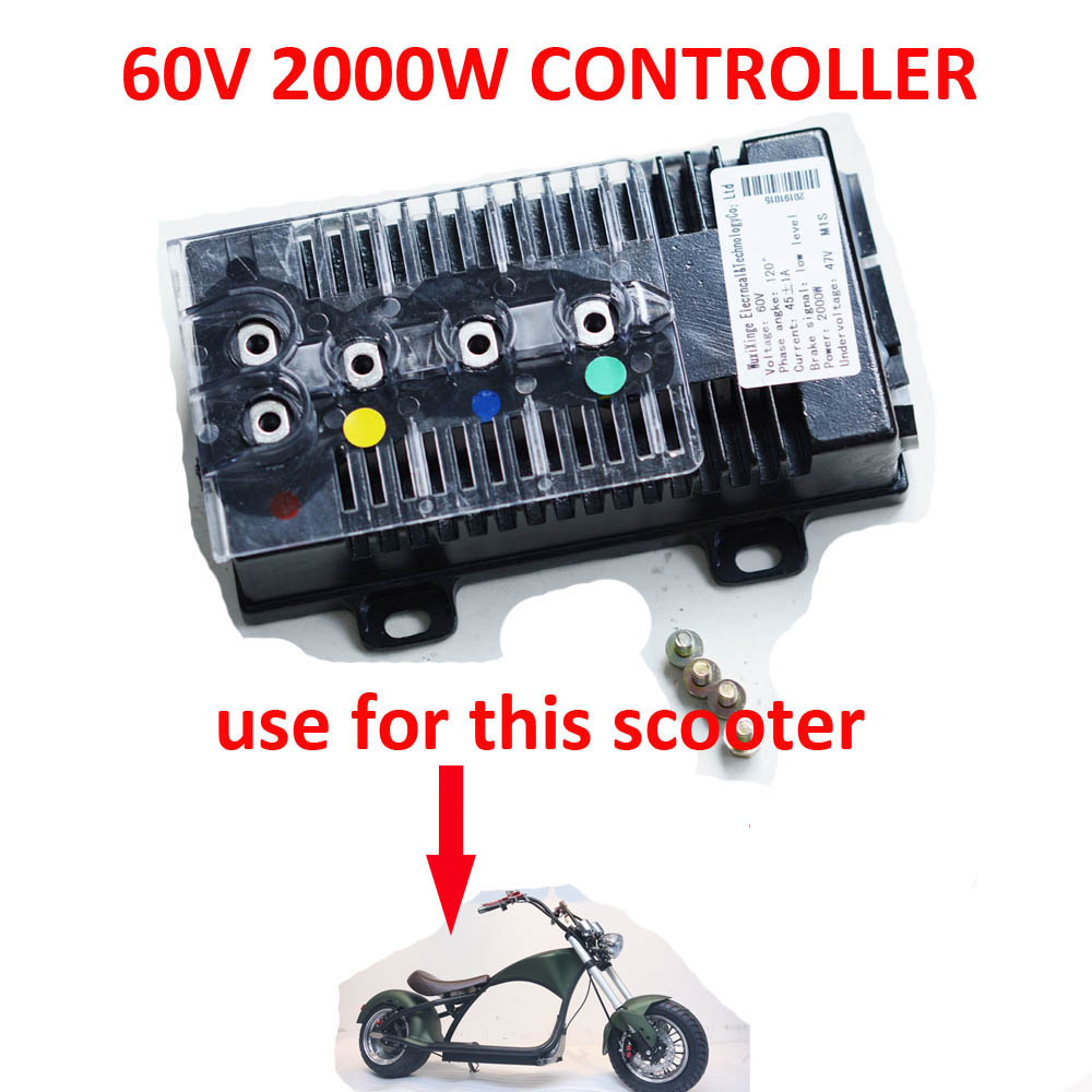 EEC COC 60V 1500W 2000W Electric Scooter Citycoco Controller