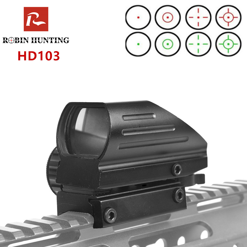 Red Dot Sight Reflex 4 Reticle Tactical Scope HD103 Hunting AirGun Accessories 20mm Rail Riflescope Hunting Optics