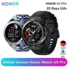 Honor – montre connectée Watch GS Pro, Version globale, moniteur de fréquence cardiaque SpO2, Bluetooth GPS, routeur arrière, autonomie de 25 jours