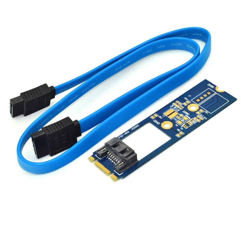 M2 SATA Adapter Convert Card B-M KEY M.2 NGFF SATA SSD to 7Pin Adapter Board Card Support 2242 2260 2280 Main Board for Computer