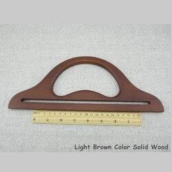 شحن مجاني الصين من Wholease الأزياء الخشب حقيبة مقابض-البني اللون مع حجم 30*12 سنتيمتر حقيبة اكسسوارات خشبية محفظة الإطار