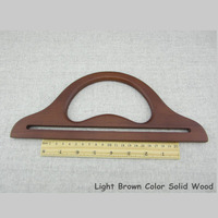Free Shipping China Wholease Fashion Wood Bag Handles Brown Color With Size 30*12cm Bag Accessories Wooden Purse Frame