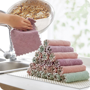 8 Pcs/lot Home Microfiber Towels For Kitchen Absorbent Thicker Cloth For Household Cleaning Tools Wipe Wash Table Kitchen Towel