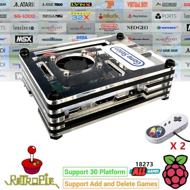 Raspberry PI 3 Model B + плюс аркадная консоль Retropie Full DIY Kit 128 ГБ 18000 + игры по индивидуальному заказу Retropie Emulation Station ES
