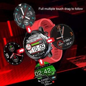 Image 3 - L15 Smart Horloge Mannen Custom Diy Horloge Ecg Ppg Hartslagmeter Zaklamp IP68 Waterdichte Oproep Herinnering Smartwatch Pk L11 l13
