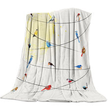 The Birds On The Wire Are Lovely Animals Bed Cover Bedspread Coverlet Blanket Cover Throw Wrap Wrinkle-Resistant Microfiber(China)