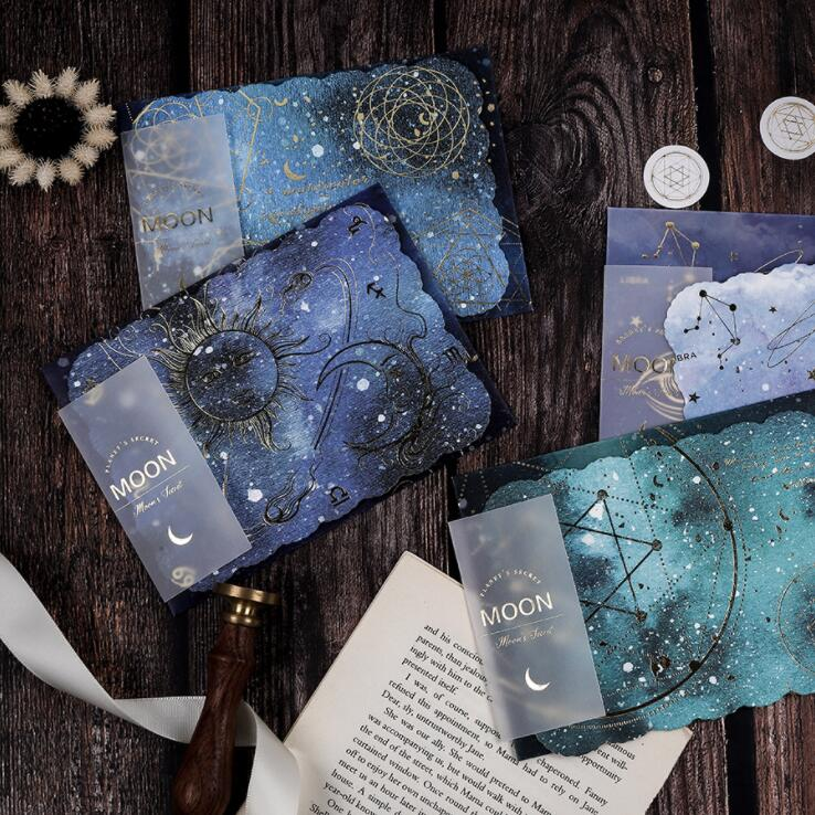 4pcs/Lot Sarry Sky Sulfuric Acid Paper Greeting Gift Card Envelope Graduation Birthday Postcard Thanksgiving Business Blessing