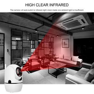 Image 5 - 1080P ענן IP אלחוטי מצלמה אינטליגנטי אוטומטי מעקב של IR לילה תינוק צג אבטחת מעקב טלוויזיה במעגל סגור רשת מיני מצלמה
