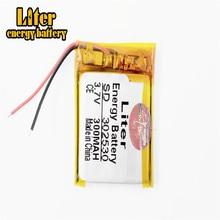 Litre énergie batterie taille 302530 3.7V 300mah Lithium polymère batterie avec panneau de Protection pour MP4 produits numériques