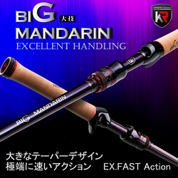 New Arrival KYORIM BIGG Baitcasting Carbon Rod 1.98/2.03M Fuji Parts M/MH Power Bait Casting Cane Fishing Tackle For Bass
