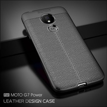 For Motorola Moto G7 Power Case G7 Power Cover Litchi Pattern Silicone TPU Back Cover Soft Phone Case for Motorola Moto G7 Power аксессуар чехол zibelino для motorola moto g7 power ultra thin case transparent zutc motr mot g7 pwr wht