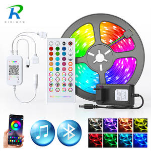 Diode-Tape Power-Adapter Led-Strip-Light Led Ribbon Bluetooth-Controller 5050 2835 Home