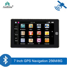 7 inch truck bluetooth AVIN 256M 8GB GPS Navigation car navigator with sunshade with 2019 Europe maps