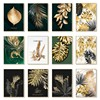 Nordic Minimalist Ctyle Black Gold Leaves Art Canvas Painting Wall Poster Living Room Decoration Painting for Home Decor 3