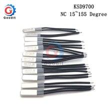 KSD9700 250V 5A 15~ 155 градусов биметаллический диск Температура переключателя нормально закрытый термостат термический протектор 60 80 градусов по Цельсию
