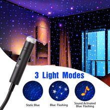 Lampe de toit avec chargeur USB, ambiance romantique, veilleuse, projecteur, Plug And Play, commande vocale, éclairage d'intérieur