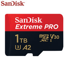 SanDisk-tarjeta Micro SD Extreme Pro de alta velocidad, 512GB, 1TB, U3, A2, SDXC, V30, Transflash, TF, con Adaptador SD