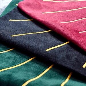 Image 5 - Housse doreiller de luxe brodée or, housse de coussin, en velours, pour canapé, décoration nordique, bleu, vert
