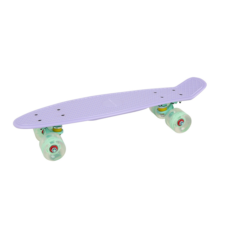 Skateboard Dynamic Pp Children's Skateboard Four Wheel Brush Street Fish Skateboard Light-emitting Wheel Adult Profession Scoote