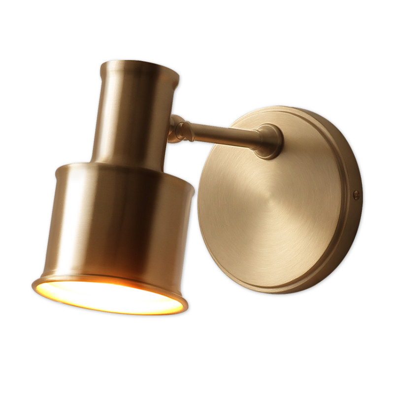Nordic all copper mirror headlight wall lamp makeup lamp dressing table bedroom bathroom lights ypf081520|Wall Lamps| |  - title=