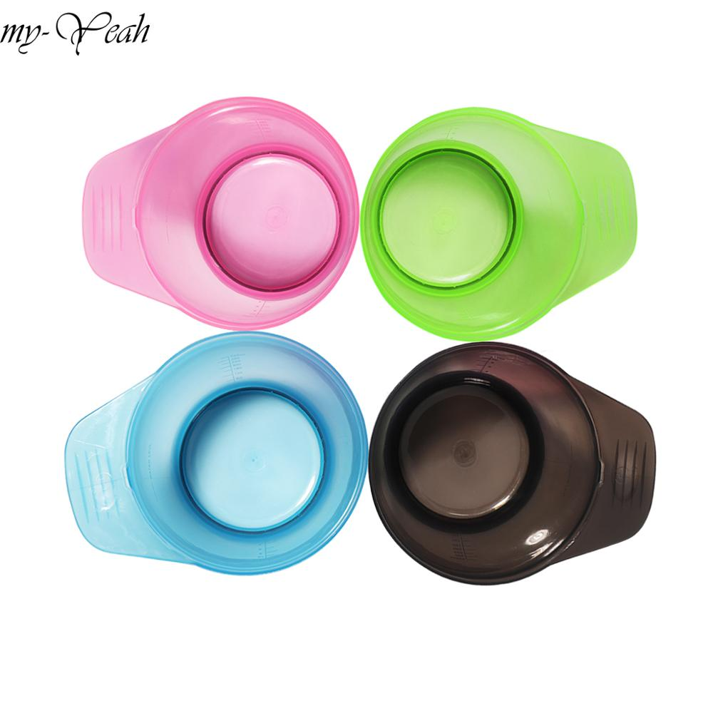 320ml Plastic DIY Hair Coloring Dyeing Tinting Bowl Hair Color Cream Mixing Bowls Salon Hairdressing Styling Tool With Handle