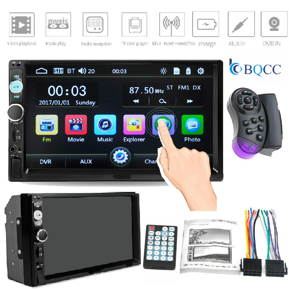 Car Radio 2 Din Stereo Bluetooth Mp5 Multimedia Player 7in HD Touch Screen MP5 <font><b>7010B</b></font> image