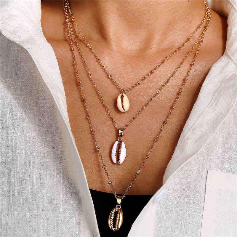 Moda nowy symulowane perły cekiny i piękne wielowarstwowe długie naszyjniki wisiorek akcesoria dla kobiet biżuteria