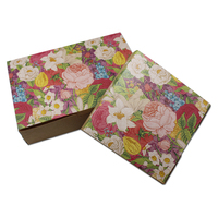 160pcs/Lot DHL Flower Printed kraft Paper Jewelry Boutiques Packing Box For Party Favor Handmade Soap Gifts Craft Package Boxes