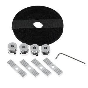 5 м GT2 Ремень ГРМ 20 зубцов ГРМ шкивы монтажные блоки комплект с шестигранным ключом для 3D принтера портативный