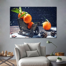 Orange Art Canvas Poster Realist Decorative Picture Painting Modern Wall Art Canvas Painting Home Decor Art Prints