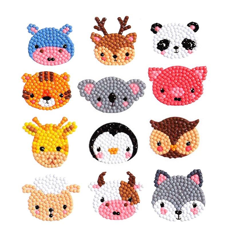 1Set Diamond Painting Kits Resin Diamond Cartoon Pattern No Frame Souptoys Crafts Art Home Ornament Children Sticker Toy