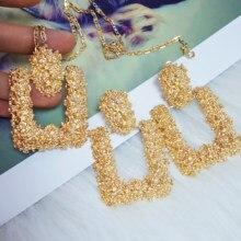 Fashion Statement Earrings Big Geometric Round Earrings For Women Hanging Dangle Earrings Drop Earing Modern Female Jewelry