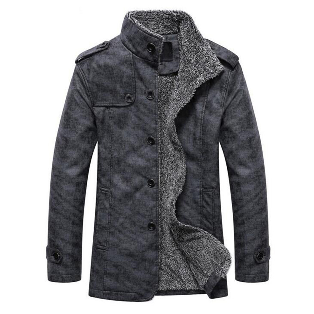 H6913621ac2384a668989e79338f26417i Fashion Men's Leather Jacket Top Coat Warm Autumn Winter Casual Pocket Button Thermal Outwear Jumper For Male Men