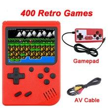 Console de jogos de vídeo portátil 400 retro jogos em 1 av para fora dois jogadores gamepads jogador para presentes das crianças