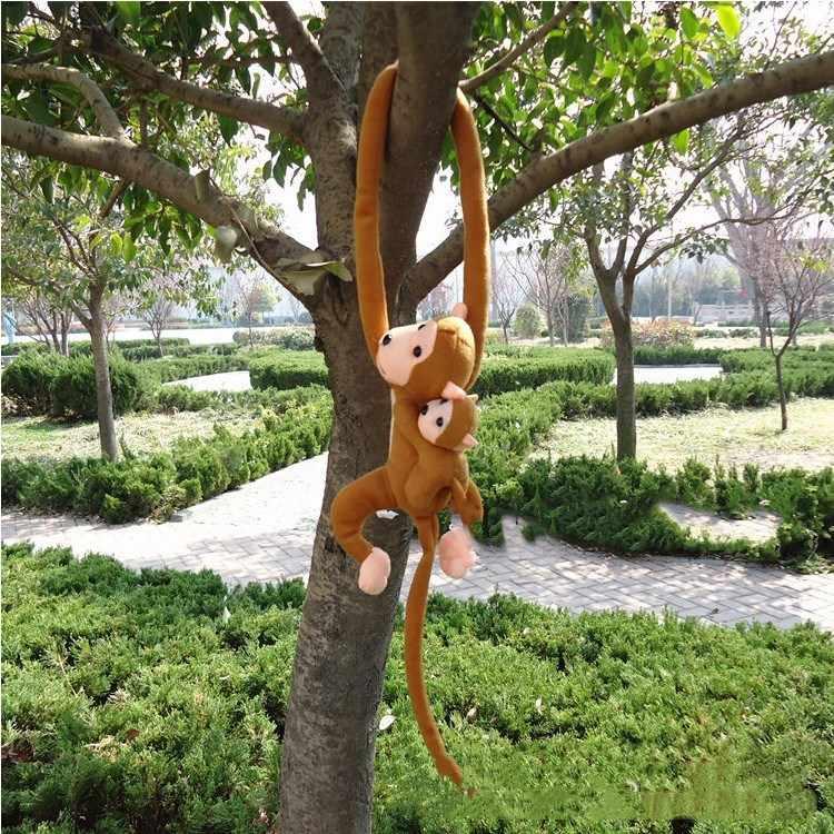 20 stili 60/70 centimetri Bambola Scimmia Tenda Sacco A Pelo Del Bambino Placare Animale Lungo Braccio di Coda di Scimmia Bambola di Pezza Muticolor della Scimmia Della Peluche giocattolo