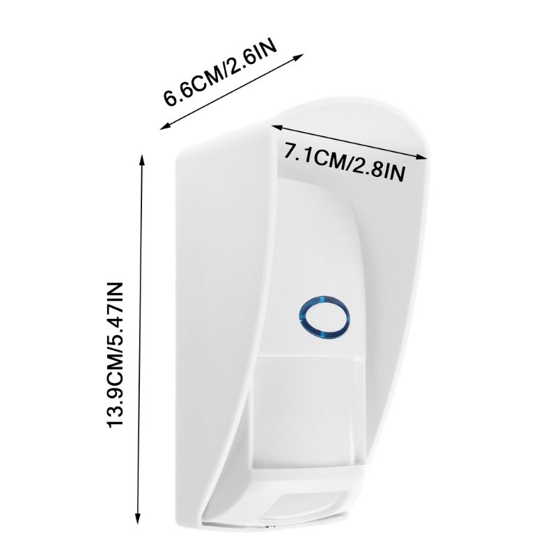 433 MHZ Wireless Outdoor Infrared Detector Alarm Wireless Infrared Sensor 200M Detection Distance