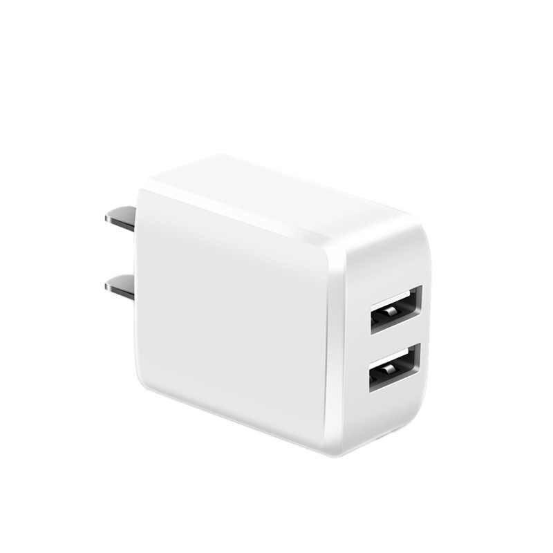 Yulass شاحن يو اس بي 5V 2.1A الولايات المتحدة التوصيل 2 منافذ USB المحمولة المحمولة شاحن آيفون