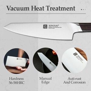 Image 4 - Xinzuo 4 pçs facas de cozinha conjunto aço inoxidável profissional cozinhar chef osso chopper cutelo carne utilitário faca ébano lidar com