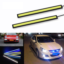 цена на 2 pcs Led COB Daytime Running Lights Universal Fog Lamp Waterproof Car Styling Led Day Light DRL Lamp for Auto 14cm