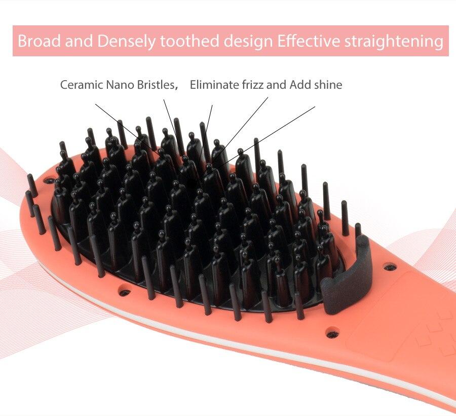 Ceramic Nano Bristles, Eliminate frizz and Add shine