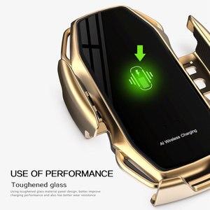 Image 4 - Qi voiture chargeur sans fil pour IPhone 11 Pro X XR XS Max Galaxy S10 S9 intelligent automatique serrage rapide charge prise dair support pour téléphone