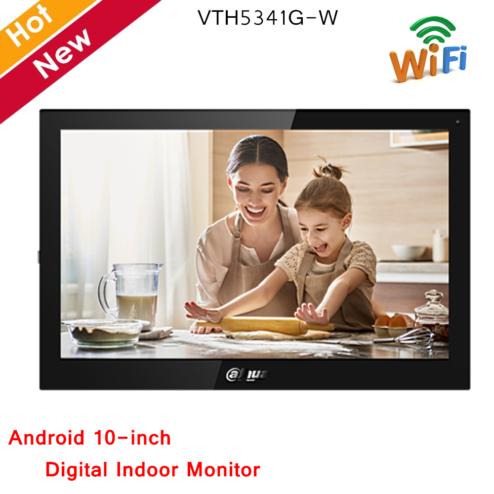 Dahua Video Intercoms Android 10'' TFT Capacitive Touch Screen 1024×600 Digital Indoor Monitor Android 8.1 Ethernet And WiFi