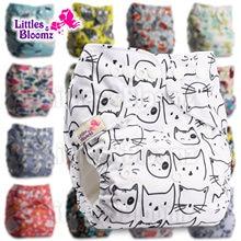[Littles & Bloomz] dziecięce do prania w pralce wielokrotnego użytku prawdziwe tkaniny kieszonkowe majtki na pieluchę Wrap Suits narodziny do nocnika jeden rozmiar wkładki na pieluchy