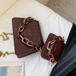 Elegant Female Mini Tote bag 2019 New Quality Leather Women's Designer Handbag Crocodile pattern Chain Shoulder Messenger Bag