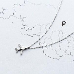 Image 4 - Trusta 100% 925 Sterling Silber Halskette Schmuck Reise Flugzeug 925 Anhänger Kurze Halskette Geschenk Für Frauen Mädchen Teens DS1344