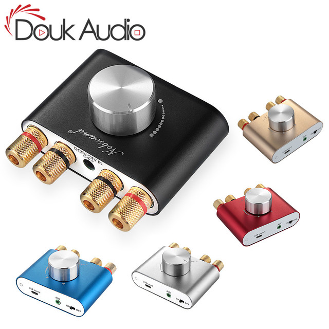 Douk audio Hi Fi Bluetooth 5.0 Digital Amplifier Stereo 2.0 Ch Mini TPA3116 High power Amp Wireless Audio Receiver DC12V