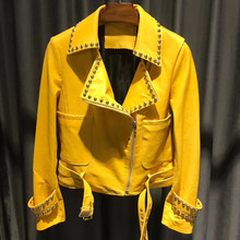 Deri gerçek ceket kadın deri hakiki ceket bayanlar kuzu derisi ceket