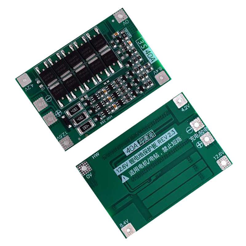 3S 40A Bms 11.1V 12.6V 18650 リチウム電池保護ボードバランスバージョンドリル 40A 電流