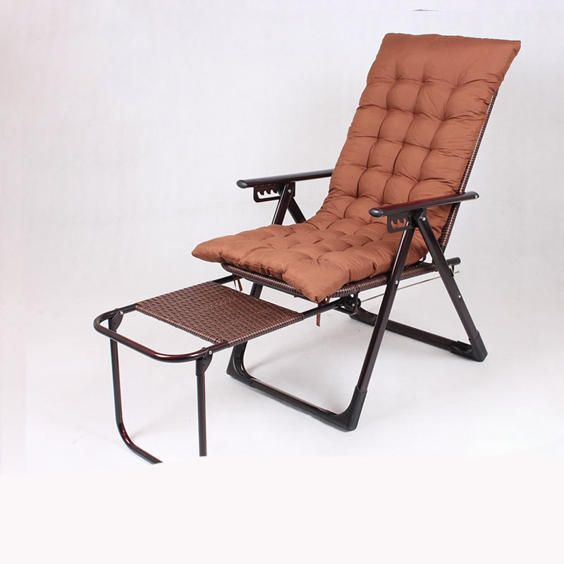 Elongated Folding Rattan Chair Lying Chair Afternoon Bed Office Backrest Lazy Chair Cool Chair Summer Beach Chai