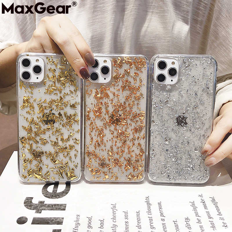 MaxGear Case for iPhone 6 6S Case Silicon Bling Glitter Crystal Sequins Soft